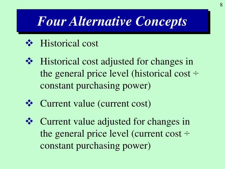 Four Alternative Concepts