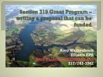 section 319 grant program writing a proposal that can be funded