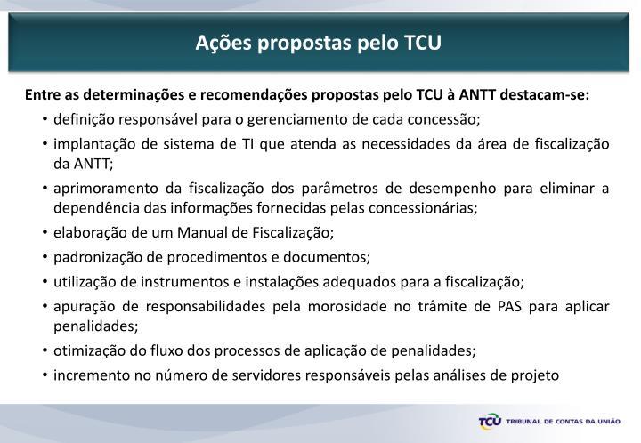 Ações propostas pelo TCU