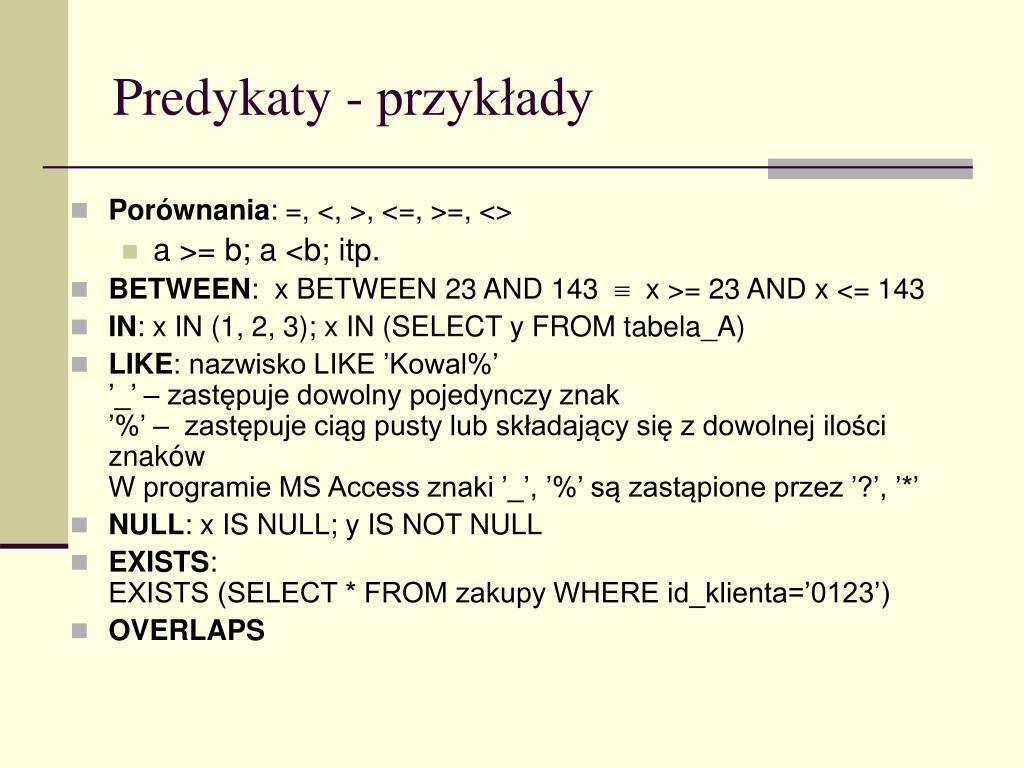 Ppt Sql Strukturalny Język Zapytań Powerpoint