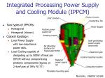 integrated processing power supply and cooling module ippcm