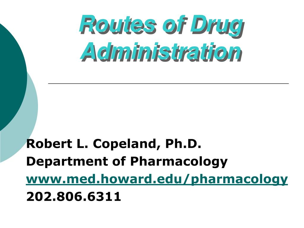 ppt - routes of drug administration powerpoint presentation - id:5868183