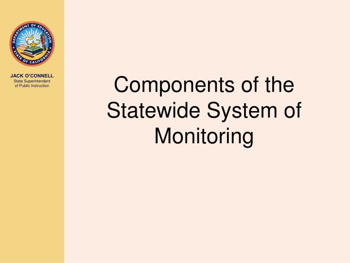 Components of the Statewide System of Monitoring