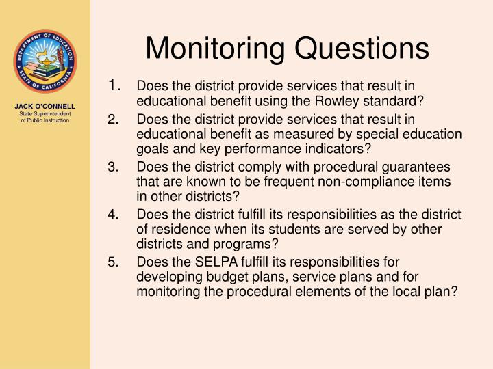 Monitoring Questions