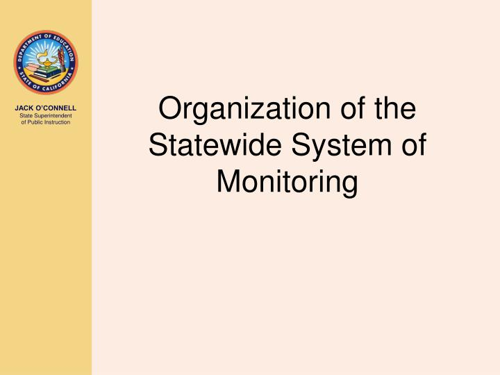 Organization of the Statewide System of Monitoring