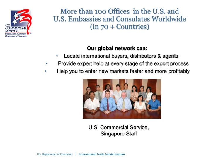 More than 100 Offices  in the U.S. and