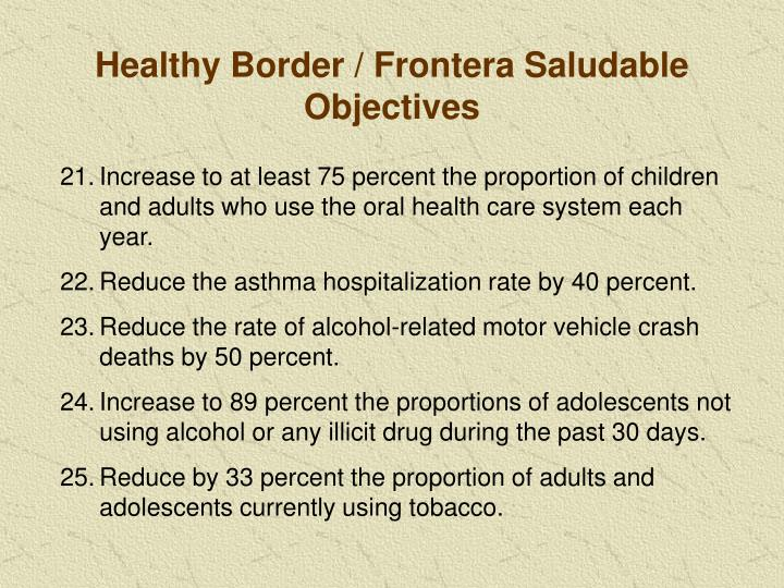 Healthy Border / Frontera Saludable Objectives