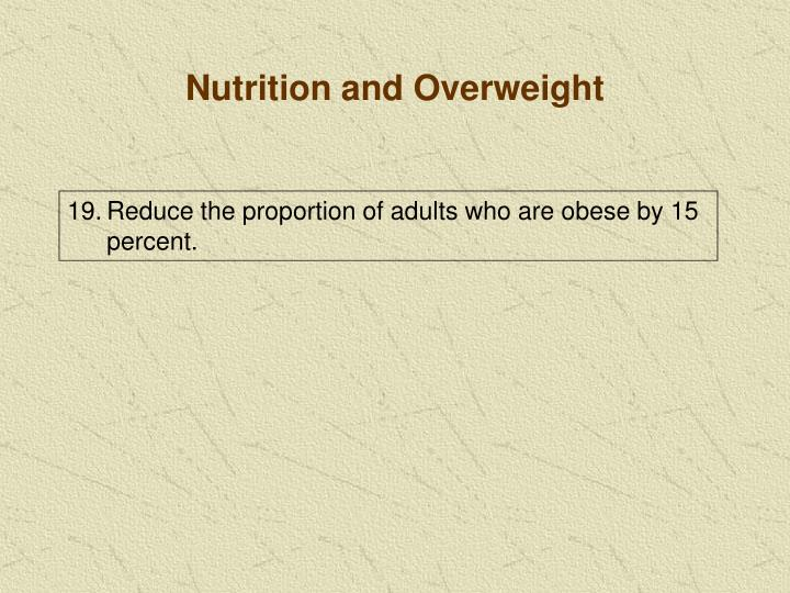 Nutrition and Overweight
