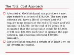 the total cost approach1