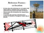 reference frames co location