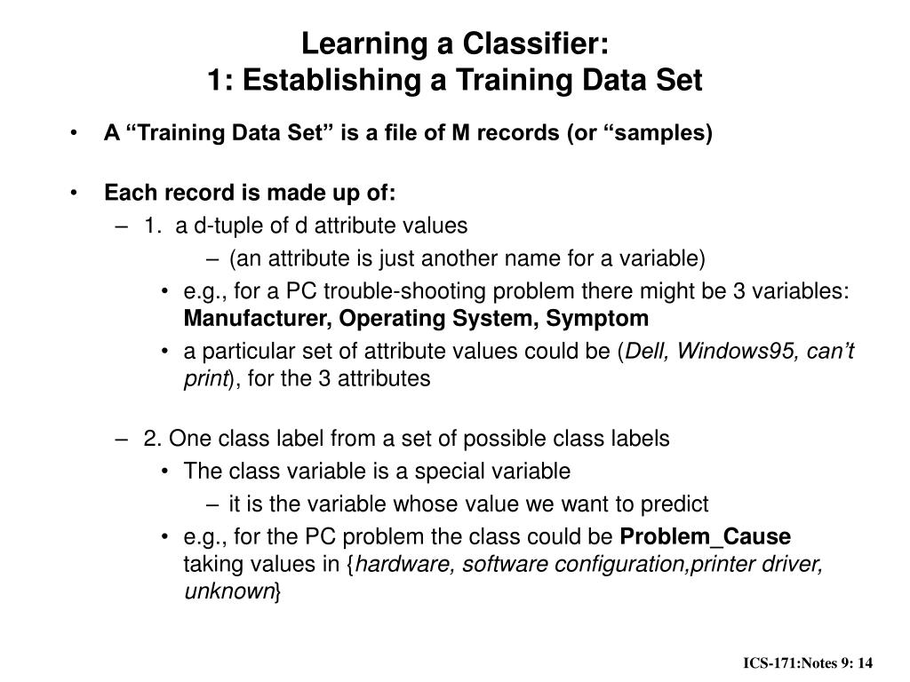PPT - Notes 9: Probability and Classification PowerPoint