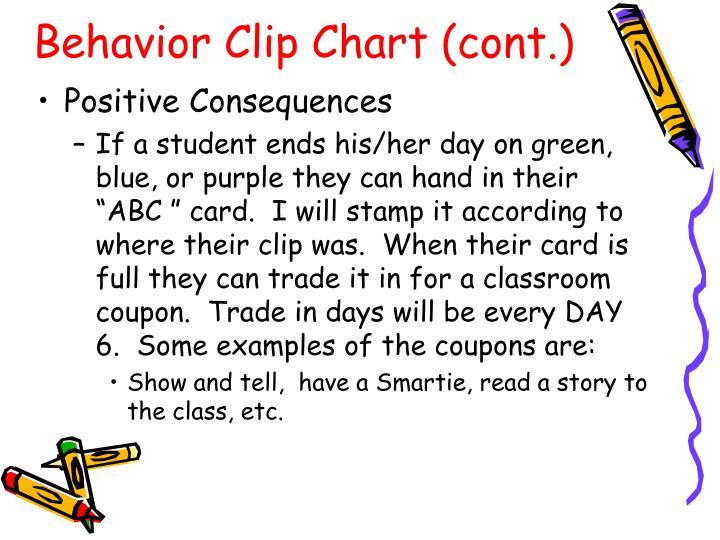 Behavior Clip Chart (cont.)