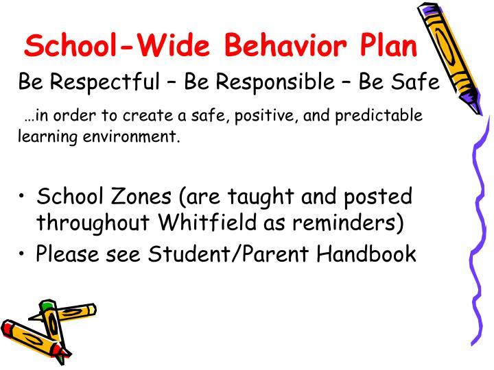 School wide behavior plan