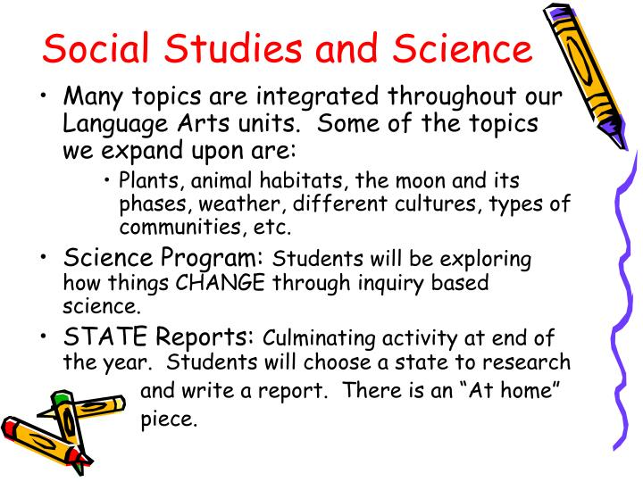 Many topics are integrated throughout our Language Arts units.  Some of the topics we expand upon are: