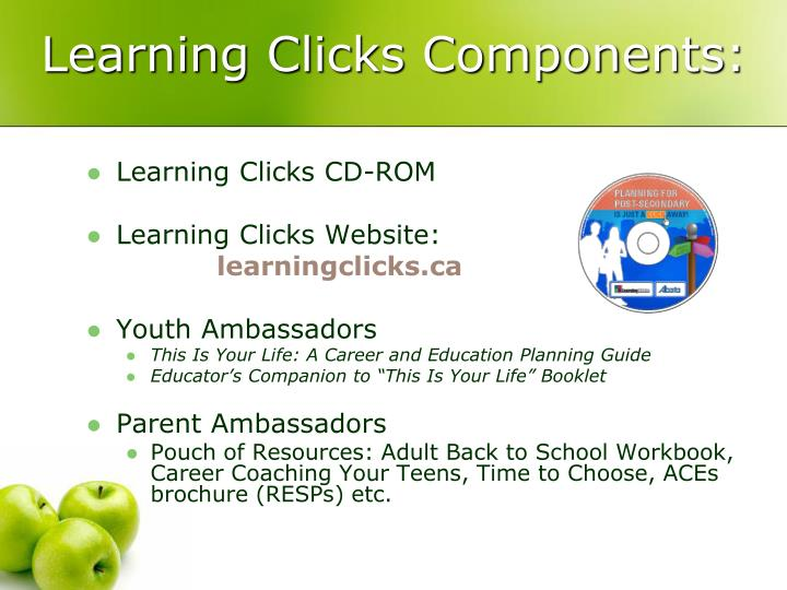 Learning Clicks Components: