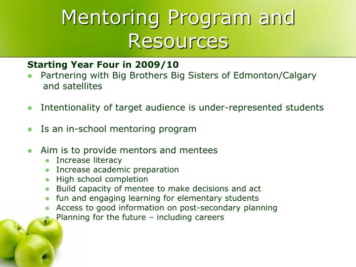 Mentoring Program and Resources