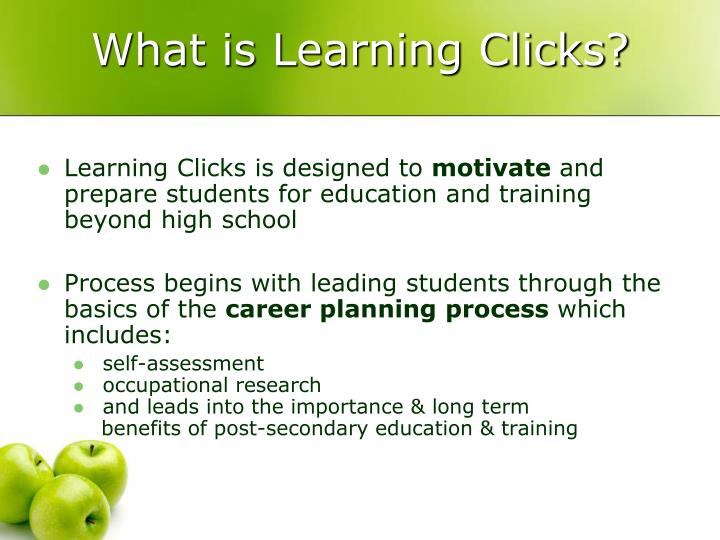 What is Learning Clicks?