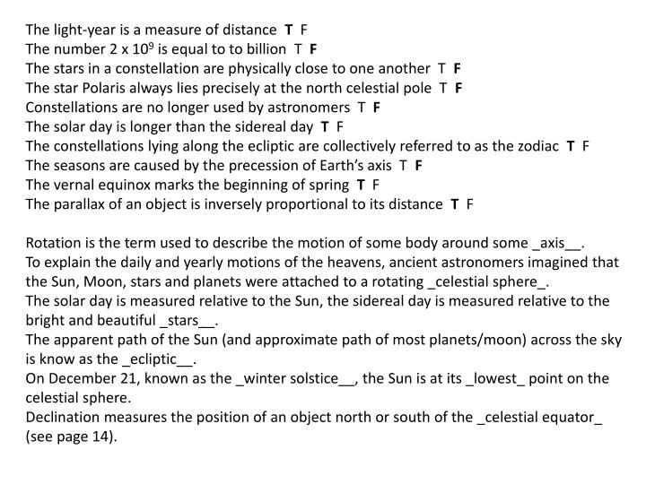 The light-year is a measure of distance