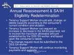 annual reassessment sa ih eligibility redetermination1