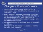 changes in consumer s needs