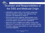 diversion and responsibilities of the dss and medicaid origin1