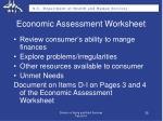 economic assessment worksheet5