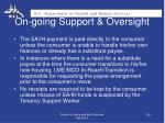 on going support oversight