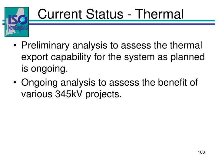 Current Status - Thermal