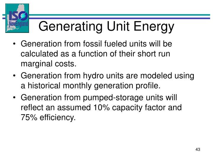 Generating Unit Energy