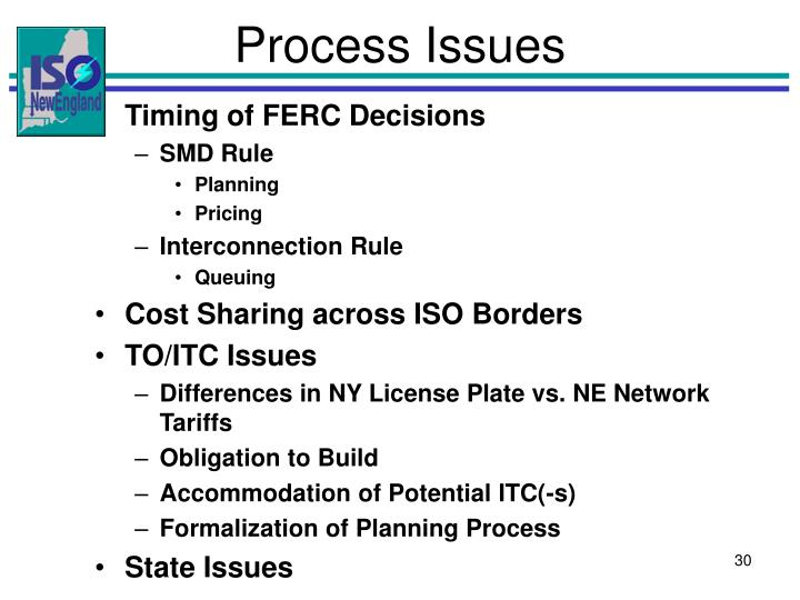 Process Issues