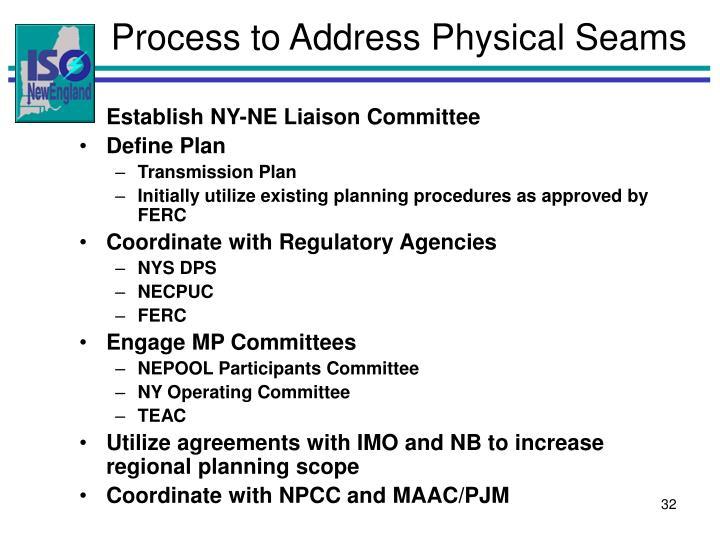 Process to Address Physical Seams
