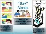day verbs