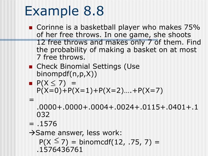 Example 8.8