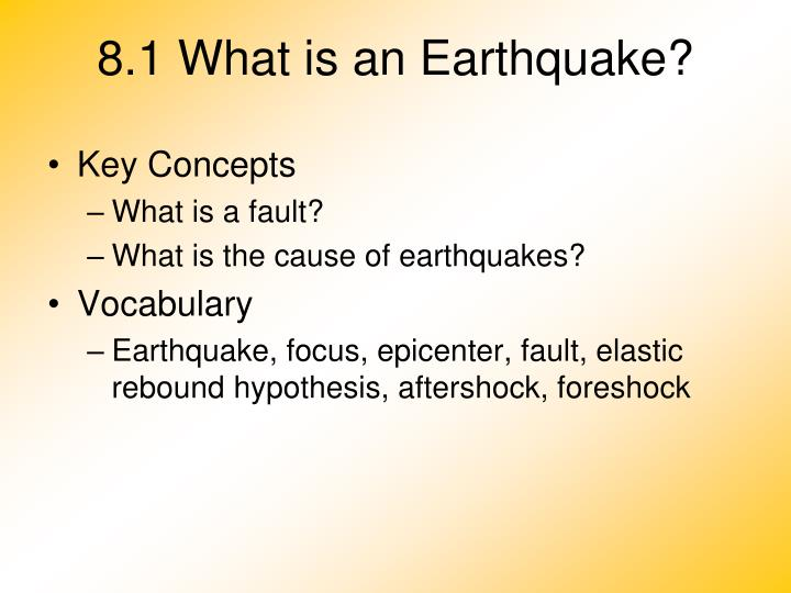 Ppt 81 what is an earthquake powerpoint presentation id5869456 81 what is an earthquake toneelgroepblik Choice Image