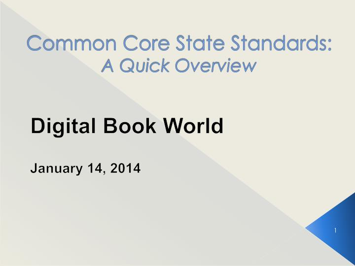 common core state standards a quick overview n.