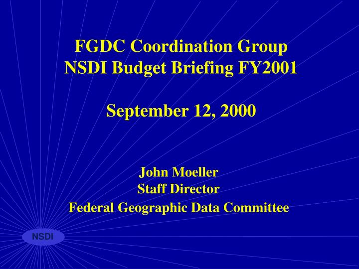 FGDC Coordination Group