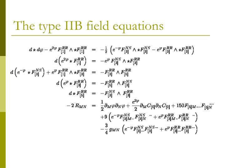 The type IIB field equations