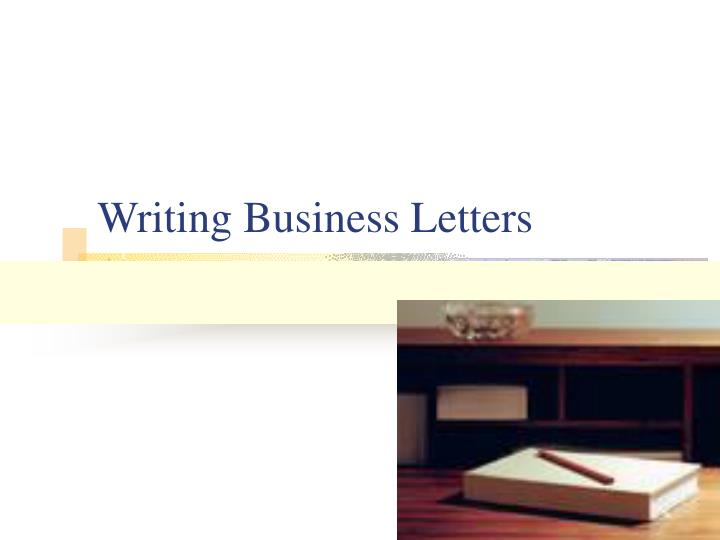 writing business letters n.