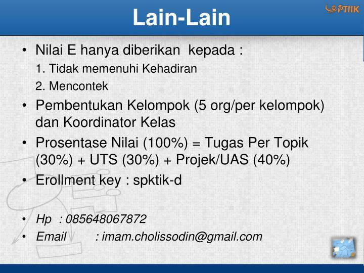 Lain-Lain