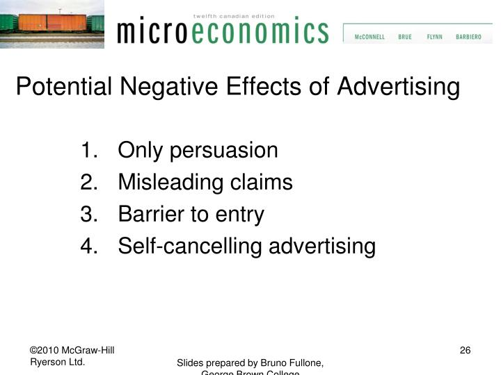 Potential Negative Effects of Advertising