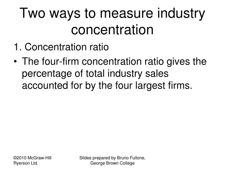Two ways to measure industry concentration