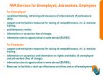 nva services for unemployed job seekers employees