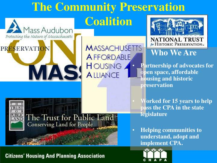 The Community Preservation Coalition