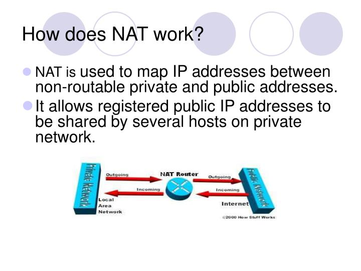 How does NAT work?