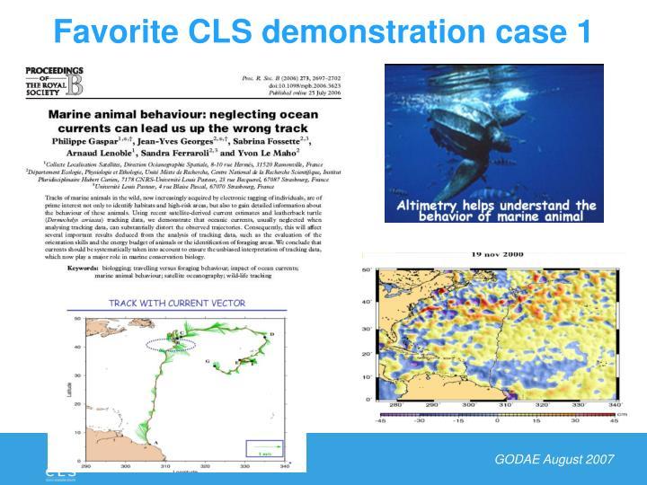 Favorite CLS demonstration case 1