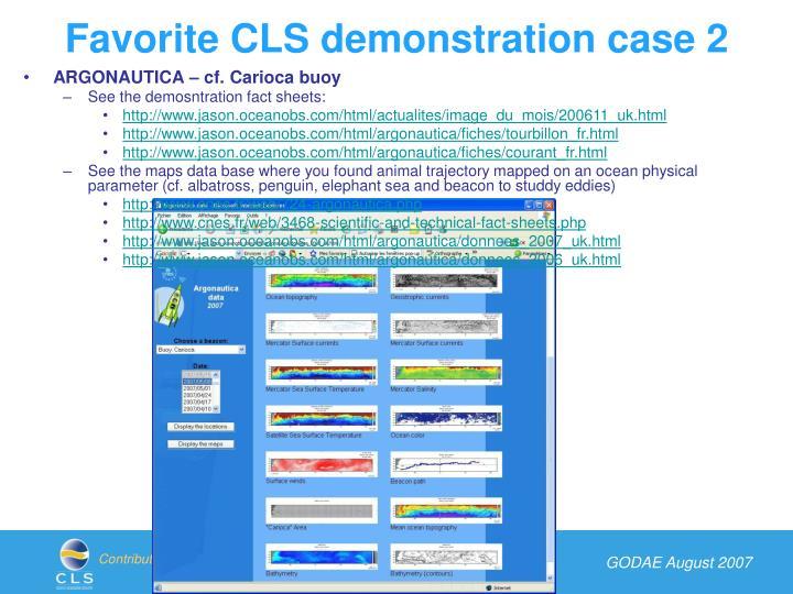 Favorite CLS demonstration case 2