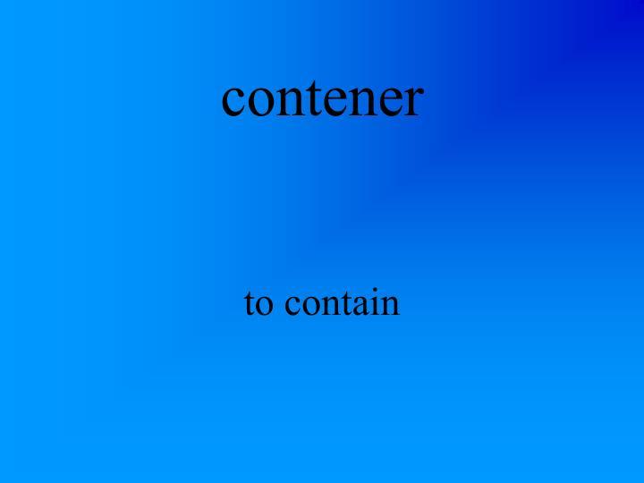 contener
