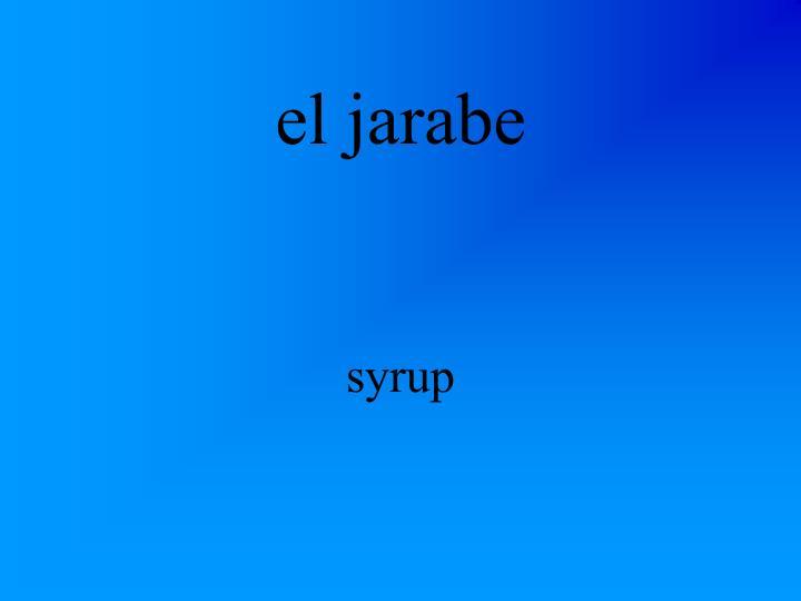 el jarabe