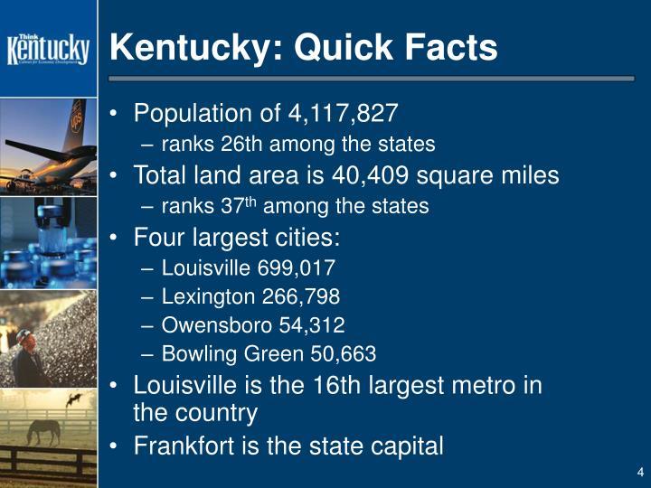Kentucky: Quick Facts