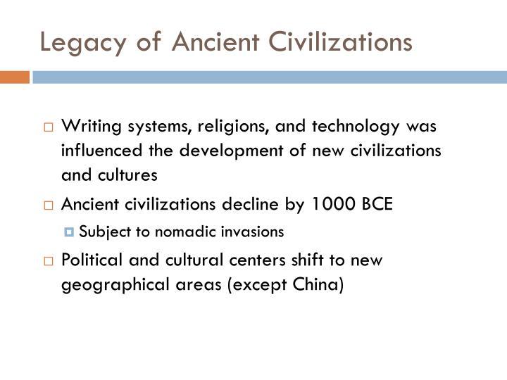 Legacy of Ancient Civilizations